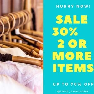30% off 2 items 3+ GREATER discounts! 500+ items!